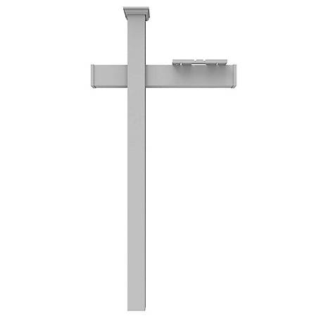 Xpanse 4 in. Vinyl Mailbox Post Stand With Arm