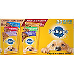 Pedigree Chopped Ground Dinner & Choice Cuts in Gravy Adult Wet Dog Food 30 ct. Variety Pack, 3.5 oz. Pouches