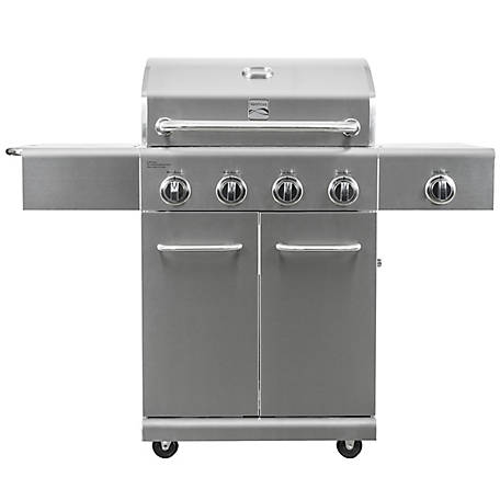 Kenmore 4-Burner Plus Side Burner Stainless Steel Gas Grill, PG-40405S0L