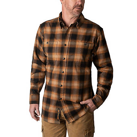 Walls Men S Longhorn Midweight Flannel Work Shirt Yl860 At Tractor Supply Co