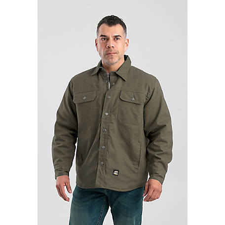 Berne Men's Quilt-Lined Duck Traditional Shirt Jacket