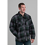 Berne Men's Quilt-Lined Flannel Shirt Jacket