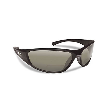 Flying Fisherman Falcon Sunglasses Black Smoke Bifocal 250