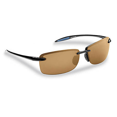 Flying Fisherman Cali Sunglasses Black Frame Amber Lens