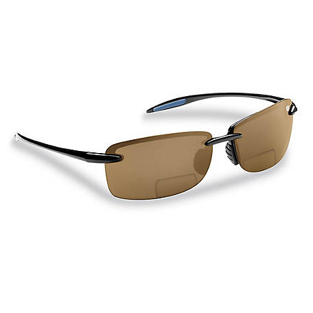 Flying Fisherman Cali Sunglasses Black Amber Bifocal 200