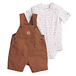 Carhartt Boys' Infant Canvas Shortall Set