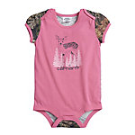 Carhartt Girls' Infant Girls Baby Fawn Bodyshirt