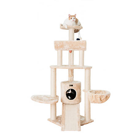 Armarkat Cat Tree, 58 in , Beige, A5806B at Tractor Supply Co