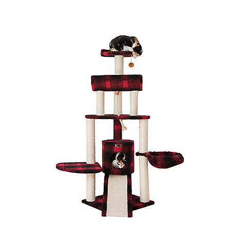 Armarkat Tartan Plaid Cat Tree, 58 in , Black & Red, B5806A at Tractor  Supply Co