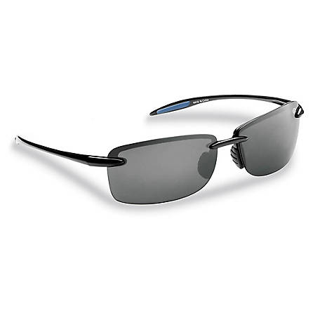 Flying Fisherman Cali Sunglasses Black Frame Smoke Lens