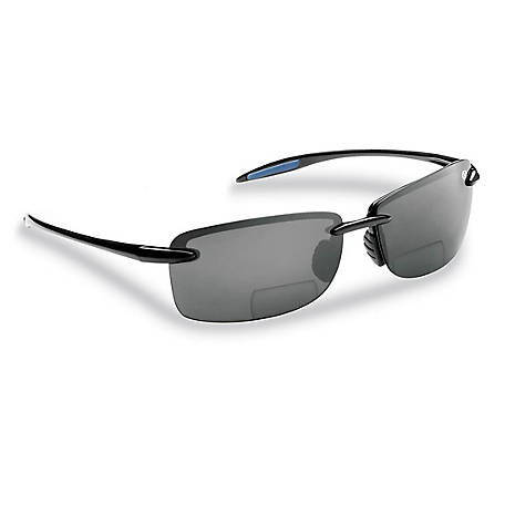 Flying Fisherman Cali Sunglasses Black Smoke Bifocal 200