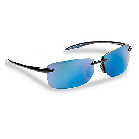 Flying Fisherman Cali Sunglasses Black Smoke Blue Mirror