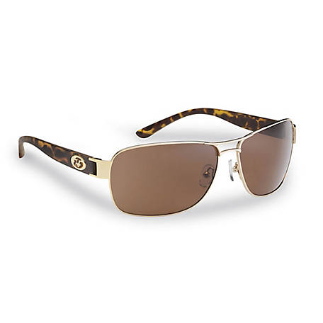 Flying Fisherman Carysfort Sunglasses Gold Tortoise Amber