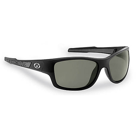 Flying Fisherman Down Sea Sunglasses Matte Black Smoke