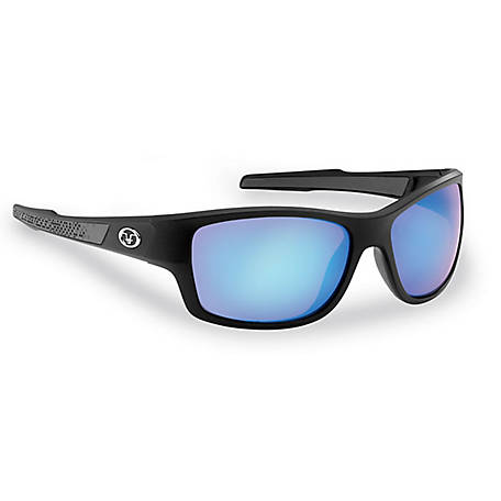 Flying Fisherman Down Sea Sunglasses Black Smoke Blue Mirror