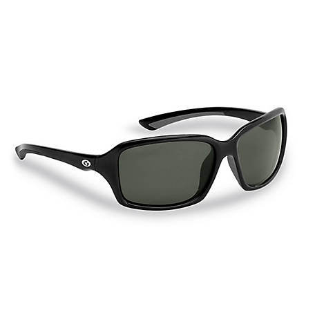 Flying Fisherman Kili Sunglasses Black Gray Smoke Lens