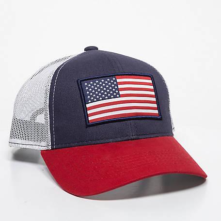 4cd2bd87eac2c Outdoor Cap Men s Oversized USA Flag Mesh Back Cap at Tractor ...