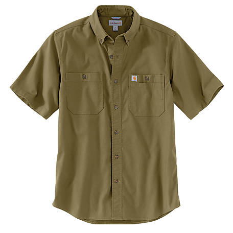 Carhartt Men's Short Sleeve Rugged Flex Work Shirt, 103555