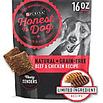 Purina Honest To Dog Made in USA Facilities, Limited Ingredient, Gain Free Dog Treats, Beef & Chicken, 16 oz. Pouch
