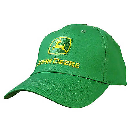 John Deere Men's Embroidered Logo Cap
