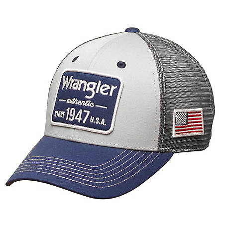 cdaabfc9d Wrangler Men's Logo Mesh Back with Flag Cap at Tractor Supply Co.
