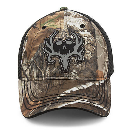 Bone Collector Men's Camo Skull Meshback Cap