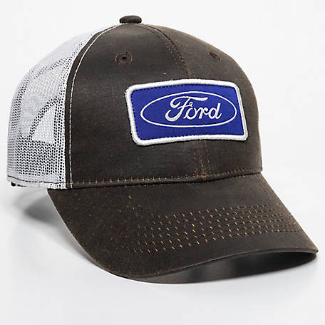 Ford Men's Logo Oil Skinned Cap