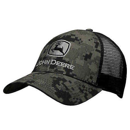 John Deere Men's Logo Digital Camo Cap