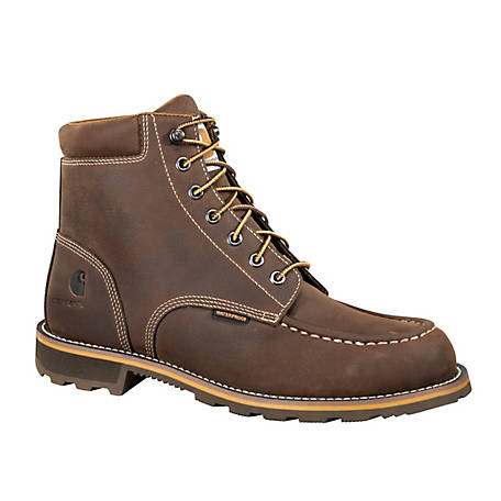 Carhartt Men's Moc Toe 6 in. CMW6197 Soft Toe Waterproof Work Boot