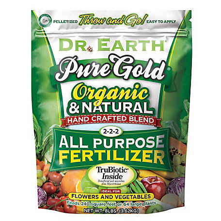 Dr. Earth Pure Gold All Purpose Fertilizer 8 lb., 759