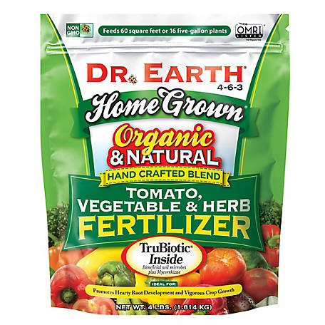 Dr. Earth Home Grown Tomato Vegetable & Herb Fertilizer 4 lb., 704P