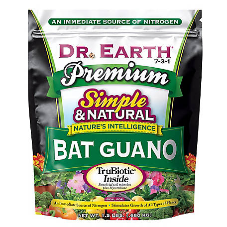 Dr. Earth Pure & Natural Bat Guano 1.5 lb., 726