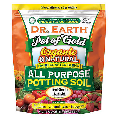 Dr. Earth Pot of Gold All Purpose Potting Soil 8Qt, 813