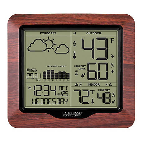 La Crosse Technology Weather Forecasting Station With Atomic Time, 308-1417BL
