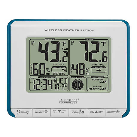 La Crosse Technology Wireless Weather Station With Moon Phase, 308-1711BL