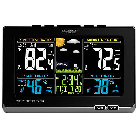 La Crosse Technology Wireless Color Forecasting Station With Mold Risk Display, 308-1414MB-INT