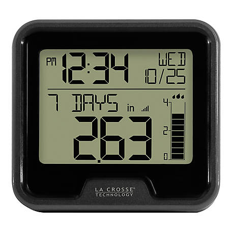 La Crosse Technology Digital Rain Gauge With Indoor Temp, 724-1409