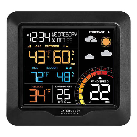 La Crosse Technology Wind Speed Weather Station With Color Display, 327-1417