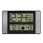 La Crosse Technology Atomic Digital Wall Clock With Indoor Temp & Humidity, 513-1417AL-INT