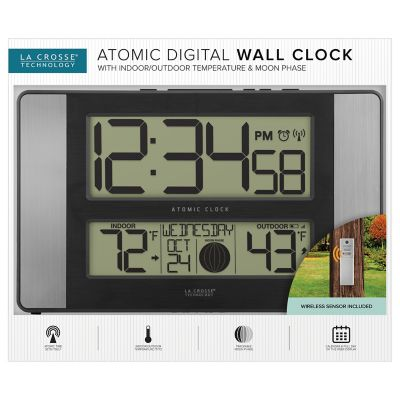 Indoor Temp Humidity 513 1417al Int, Atomic Wall Clock With Indoor Outdoor Temperature And Humidity