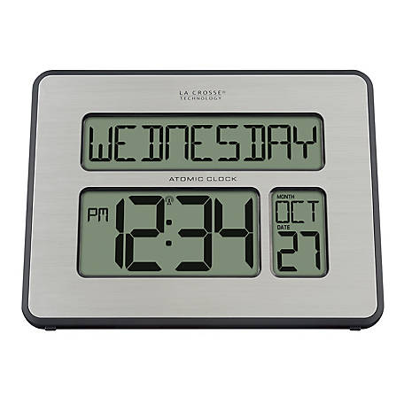 La Crosse Technology Atomic Digital Wall Clock With White Backlight,  513-1419BL-INT at Tractor Supply Co