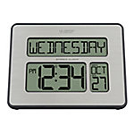La Crosse Technology Atomic Digital Wall Clock With White Backlight, 513-1419BL-INT