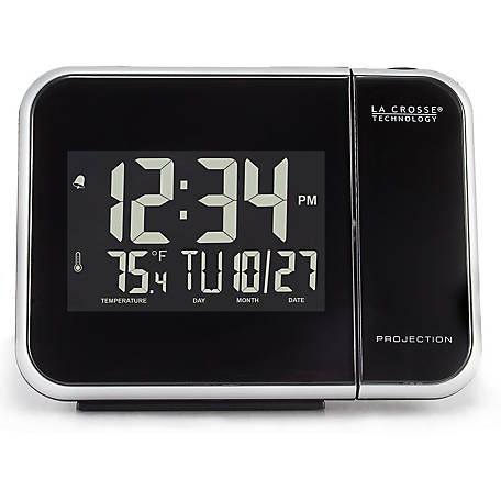 La Crosse Technology Pro Alarm Clock With Indoor Temp Humidity, 616-1412