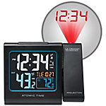 La Crosse Technology Atomic Projection Alarm Clock With Indoor Temp & Moon Phase, 616-146-INT