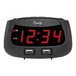 Equity by La Crosse 0.9 in. Led Dual USB Alarm Clock, 30416
