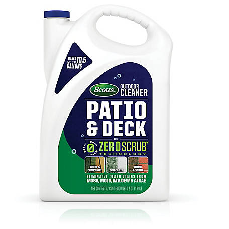 Scotts Outdoor Cleaner Patio & Deck with ZeroScrub Technology Concentrate 0.5 gal., 51064