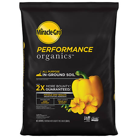 Miracle-Gro Performance Organics All Purpose In-Ground Soil 1.3 cu. Ft., 45015430