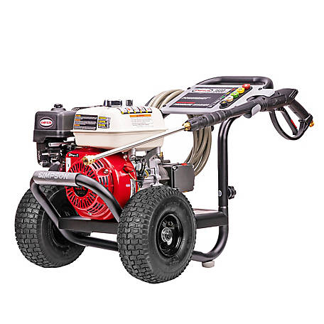 Simpson PowerShot 3600 PSI at 2.5 GPM HONDA GX200 with AAA Industrial Triplex Pump Cold Water Professional Gas Pressure Washer