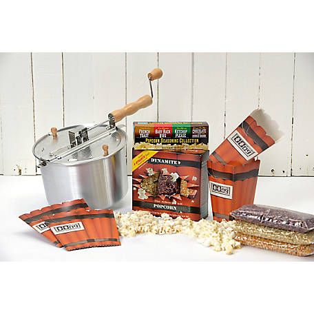 Wabash Valley Farms Stovetop Popcorn Popper Dynamite Gift Set, 36028