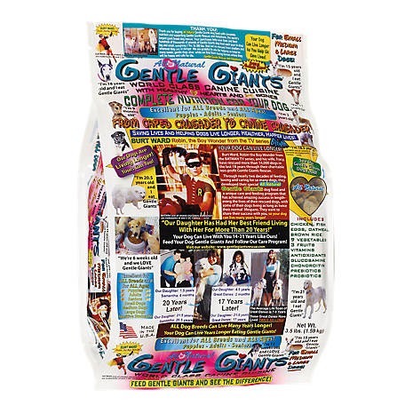 Gentle Giants Chicken Dog Food, 3.5 lb.
